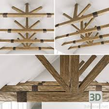 100 Cieling Beams 3DModel Wooden Ceiling Beams For Barn