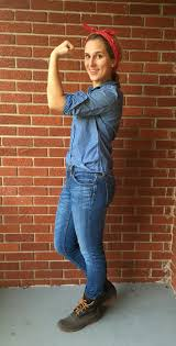 Rosie The Riveter Halloween Tutorial by Halloween The Dress Decoded