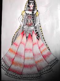Indian Lehenga Sketch By Monikasingh
