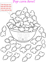 Pics Of Popcorn Coloring Pages For Kids Best