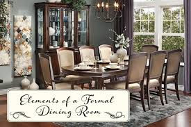 Elements Of A Formal Dining Room