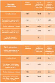 tarif salle des fetes location salle des fêtes et château lapalus commune de sancé 71