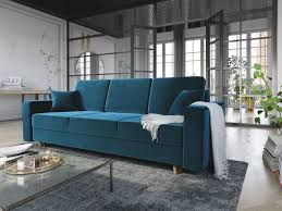 sofa 3 sitzer carde mit schlaffunktion türkis