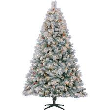Vickerman Flocked Christmas Tree by Holiday Time Pre Lit 7 U0027 Westwood Pine Flocked Artificial Christmas