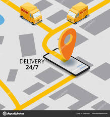 100 Truck Gps App Isometry Express Cargo Delivery Route Navigation Map Of The