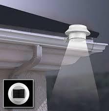 sun power smart 10 led solar gutter security light for house