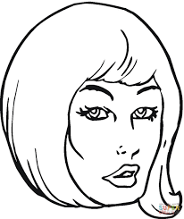 Click The Girl With Beautiful Hair Coloring Pages
