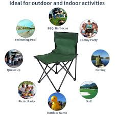 Jamohom Portable Folding Camping Chair Outdoor Heavy Duty ...