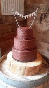 Chocolate Ganache Rustic Wedding Cake Homemade By Hollie