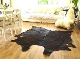 ikea echtes kuhfell fell 210x190 schöner teppich landhaus braun dunkelbraun vintage