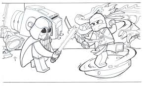 Ninjago Coloring Pages Art Galleries In Lego Book