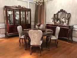 e70 runder esstisch 4 stühle stuhl esszimmer komplett garnitur barock rokoko