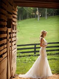 Rustic Wedding Fun Fantastic Mermaid Bridal Gown For Farm