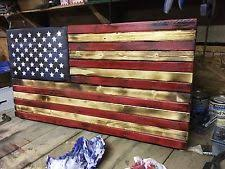 Rustic Wooden American Flag Last One Free Next Business Day Shipping
