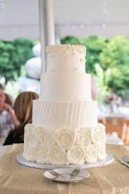 Rustic Wedding Cake Shabby Chic Buttercream Rosettes