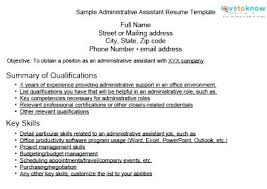 Resume Format For Executive Assistant Example Legal Administrative Functional