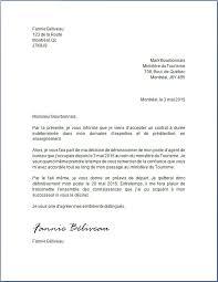 bureau du tourisme montreal lettre de démission agente de bureau lettrededémission org