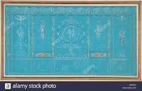 100 Decorated Wall Design For A With Grottesque Over Blue Background