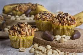 bananut bananen schoko erdnuss muffins