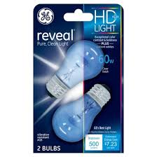 ge reveal 60 watt ceiling fan incandescent light bulb 2 pack