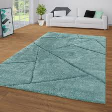 grüner teppich wohnzimmer weich flauschig hochflor shaggy