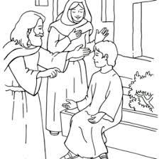 Jesus Heals The Sick Coloring Page AZ Pages Of Boy