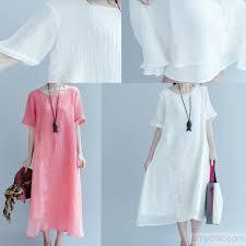 fine white linen summer dresses plus size cotton sundress caual shift dress 2017 collection5 jpg