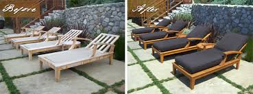 Restrapping Patio Furniture San Diego by Teak Furniture For Outdoor Uses Darbylanefurniture Com