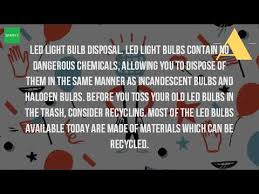 how do you dispose of led light bulbs