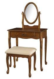 Ebay Dressers With Mirrors by Amazon Com Powell Company Woodland Oak Vanity Mirror And Bench