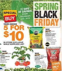 Home Depot Spring Black Friday Sale $2 Mulch Miracle Gro