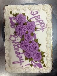 birthday 1 Floral Purple Happy Birthday Cake