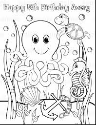 Remarkable Under The Sea Animals Coloring Pages With Ocean Page And Free