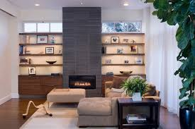 Living Room With Fireplace And Bay Window by Elegant Fireplace Surround Kits In Living Room Contemporary With