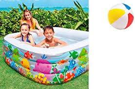 aquarium pool ca 159 x 159 cm höhe ca 50 cm planschbecken badespaß schwimmbad für kleinkinder pool planschbecken kinderpool babypool baby pool
