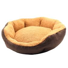 Chewproof Dog Bed by Aiicioo Round Pet Bed Gunny Designed For Summer Dog Cat Bed