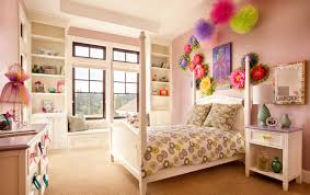 Girl Bedrooms Images Chest Drawer And Display Rack Combine With Bay Window One Bed Also Flower Ornaments