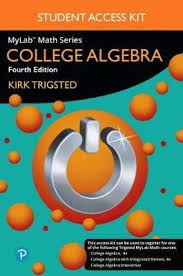 Mylab Math For Trigsted College Algebra Plus Guided Notebook Access Card Package