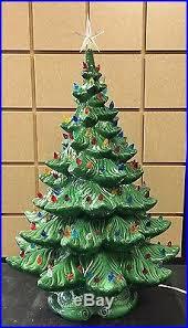 Vintage Atlantic Mold Ceramic Christmas Tree by Vintage Atlantic Mold 25 U0027 4 Piece Ceramic Christmas Tree Leaning