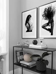 schwarzweiß deko fürs wohnzimmer