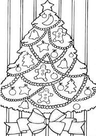Christmas Tree Coloring Pages Printable Me Line Drawings