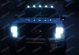 5 Pieces Smoked Roof Cab Marker Running LED Lights For Truck SUV