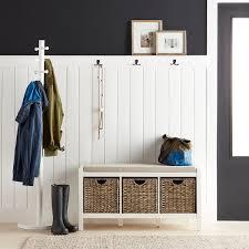Bolton Furniture Shaker Cottage BenchCoat Hook WStorage