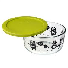 Storing Pumpkin Pieces by Pyrex Simply Store 4 Cup Monsters U0026 Pumpkin Storage Dish W
