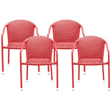 Details About Crosley CO7109-RE Palm Harbor Outdoor Wicker Stackable Chairs  - Red - 4pc Gdf Studio Dorside Outdoor Wicker Armless Stack Chairs With Alinum Frame Dover Armed Stacking With Set Of 4 Palm Harbor Stackable White All Weather Patio Chair Bay Island Noble House Multibrown Ding 2pack Plowhearth Bistro Two 30 Arm Brown 51 Bfm Seating Ms11cbbbl Gray Rattan Inoutdoor Restaurant Of Red By Crosley Fniture