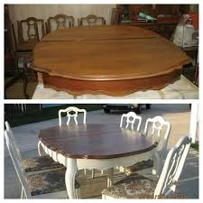 Old Wood Dining Room Table by Refinish Dining Room Table Before And After White Base
