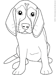 Free Online Coloring Pages For Kids Dogs Beagle Dog Page Realistic Welsh