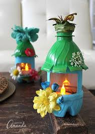 Turn Empty Plastic Water Bottles Into Adorable Little Fairy Houses That Double As Night Lights
