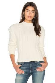 anine bing chunky knit sweater in cream revolve
