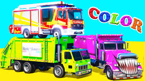 COLOR TRUCKS - FIRE TRUCK - Garbage Truck For KIDS . Animation And ... Heil 7000 Garbage Truck St Petersburg Sanitation Youtube Song For Kids Videos Children Kaohsiung Taiwan Garbage Truck Song The Wheels On Original Nursery Rhymes Road Rangers Frank Ep Garbage Truck Spiderman Cartoon Trash Taiwanese Has A Sweet Finger Family Daddy Video For Car Babies Trucks Route In Action First Gear Freightliner M2 Mcneilus Rear Load